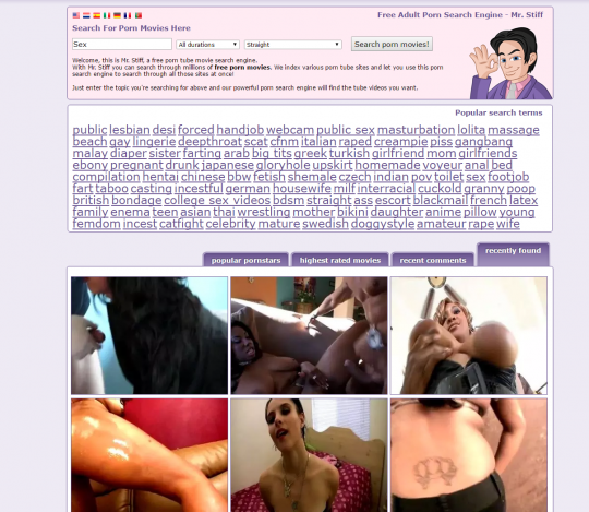 Streaming porn search engine